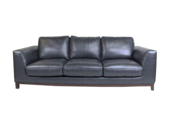 3 seat leather sofa retro design