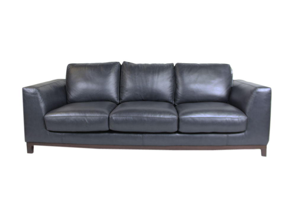 3 seat leather sofa retro design