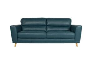 jade leather 2 seat sofa timber legs retro design