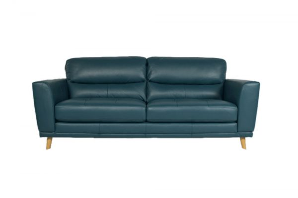 jade leather 2 seat sofa timber legs retro design