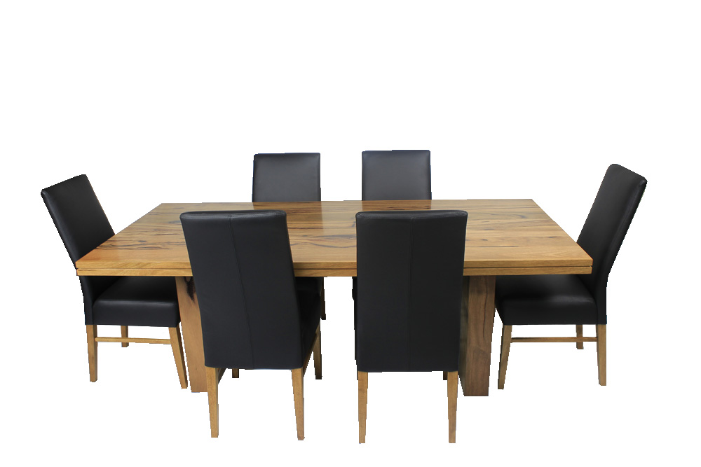 Dining Table Marri Timber Full Leather Dining Chairs The Bed Shop Ballarat