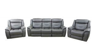 kate recliner suite dark grey