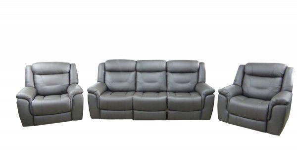kate recliner suite dark grey