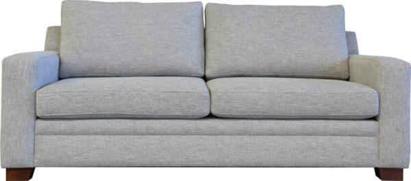 2 seat sofa grey fabric