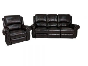 leather comfortable reclining suite.
