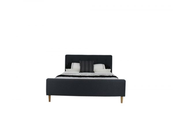 upholstered bed with buttons