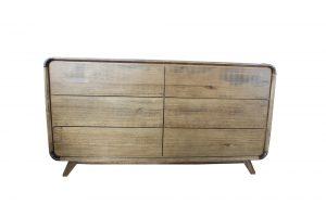 6 drawer troy dresser hardwood retro
