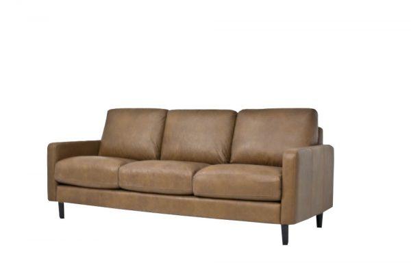 leather tan 3 seat sofa