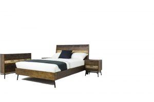 rustic bed suite acacia rough sawn timber