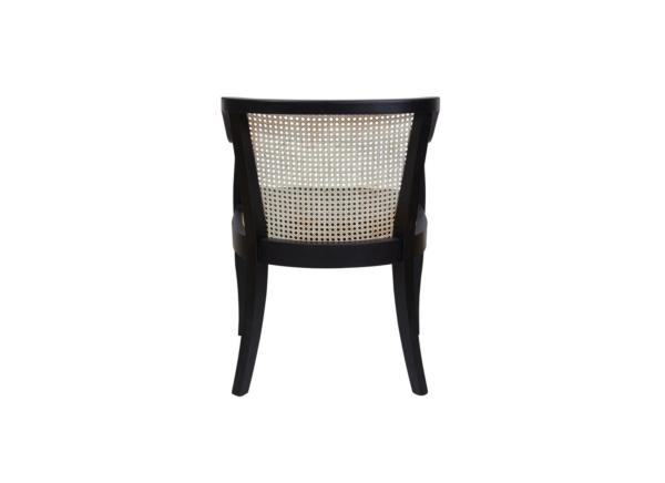 rattan chair black frame