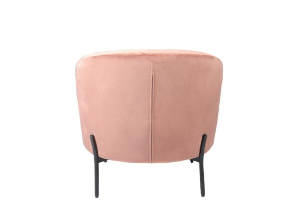 Grace-blush-chair-velvet-powder-coated-metal