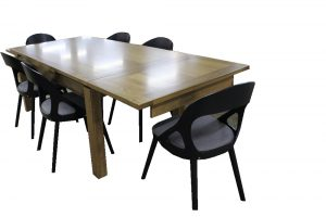 extension table hardwood