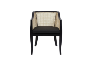 rattan chair black frame