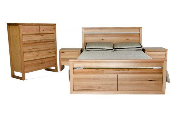 vic ash 4 piece suite 2 drawer under bed storage