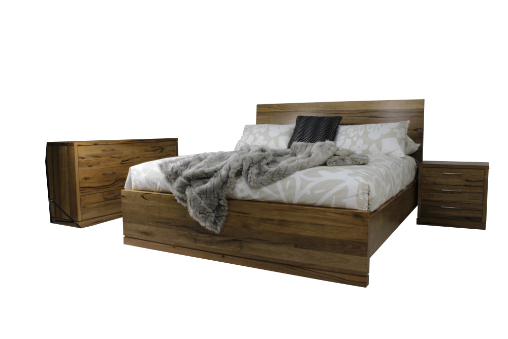 Marri timber hardwood bedroom suite, furniture King and queen