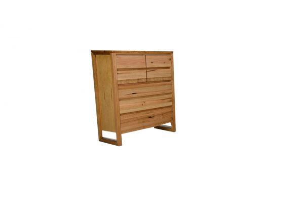 vic ash 7 drawer tallboy