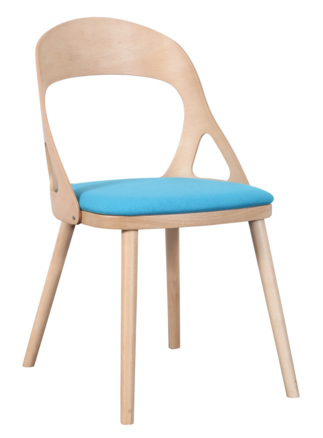 timber curved back dining chair