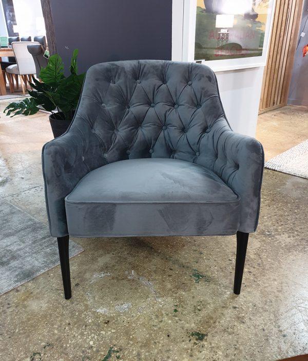 velvet occasional chair