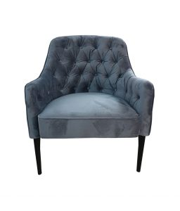 velvet ocassional chair with buttoning