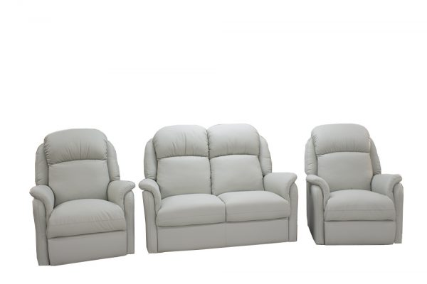 leather three piece reclining suite australian made