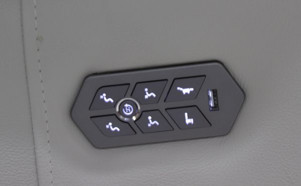 powered touch button control panel with usb