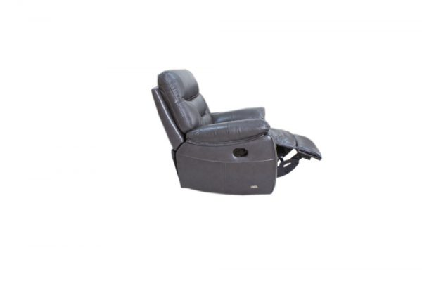 leather chair reclining showing the foot action
