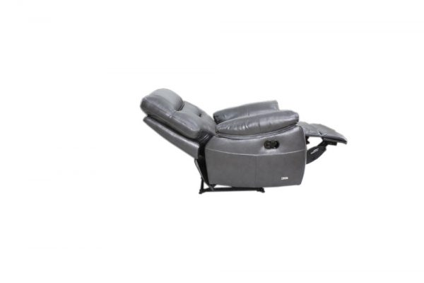 leather reclining chair fully reclined