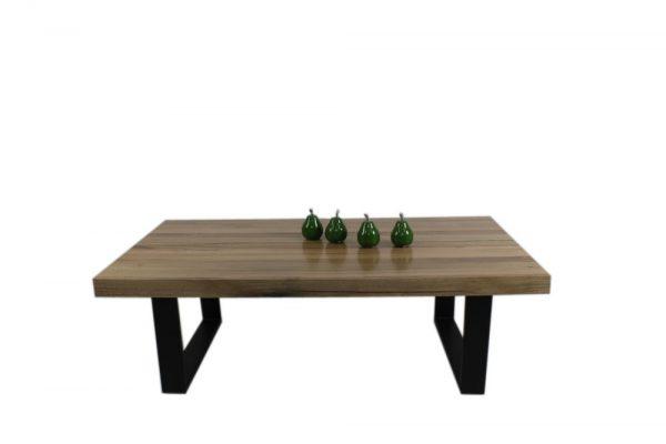messmate coffe table with black u steel legs