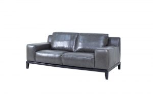 wide arm leather sofa modern design