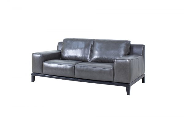 wide arm leather sofa modern design