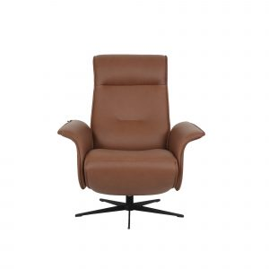 tan recliner chair leather