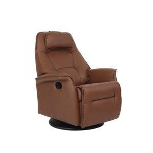 tan reclining chair