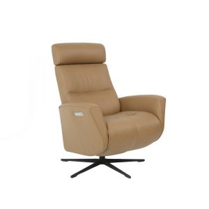 Beige recliner chair ergonomic