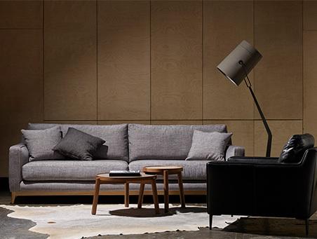 tan sofa in living room
