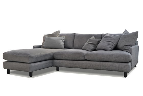 dark grey sofa with chaise modern design