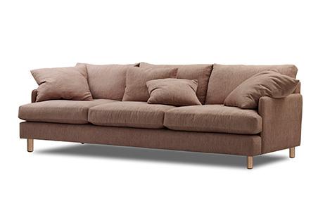 pink retro look sofa