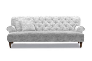 fabric buttoned back sofa pale greyt