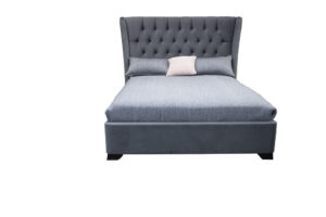 upholstered bed tall bed head with buttoning