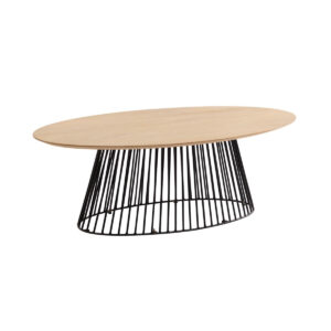 coffee table ash top wire base
