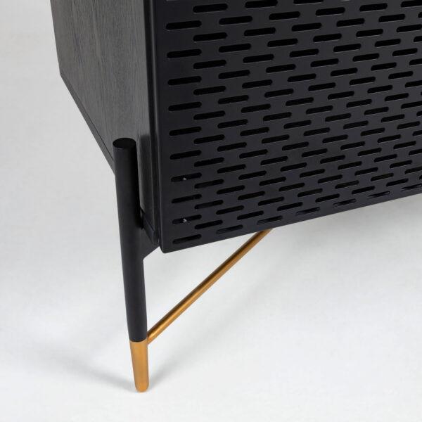 close up of gold leg