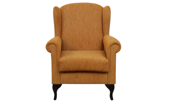 wing chair in orange colour