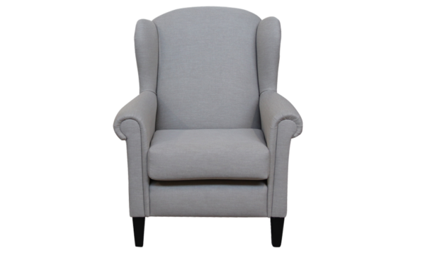 grey wing chair