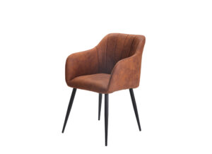 rust colour dining chair