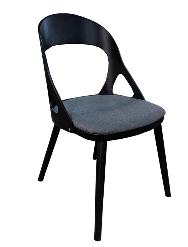 black timber chair