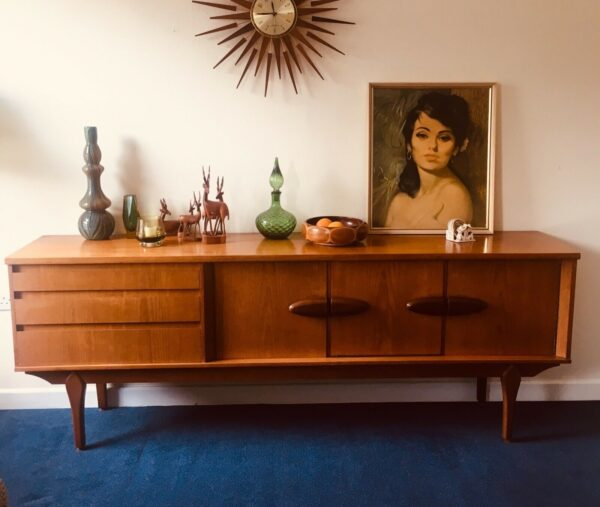 retro buffet sideboard with picture